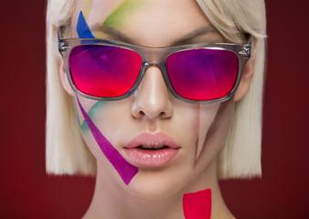 stylish portrait with glasses