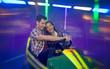 Leinwanddruck Bild - Happy couple having fun