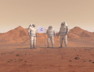 Humanos conquistando un planeta