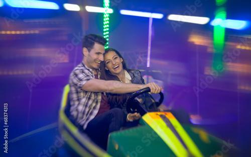 Leinwanddruck Bild Happy couple having fun