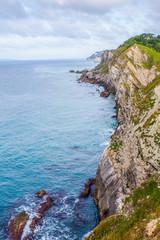 Dorset coastline above Durdle Door