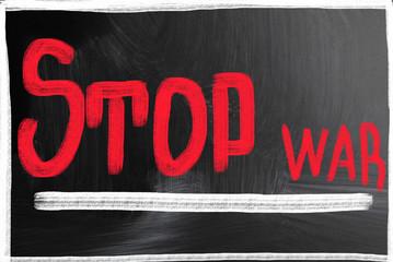 stop war concept