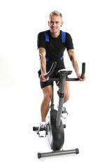 Rower - mężczyzna na treningu
