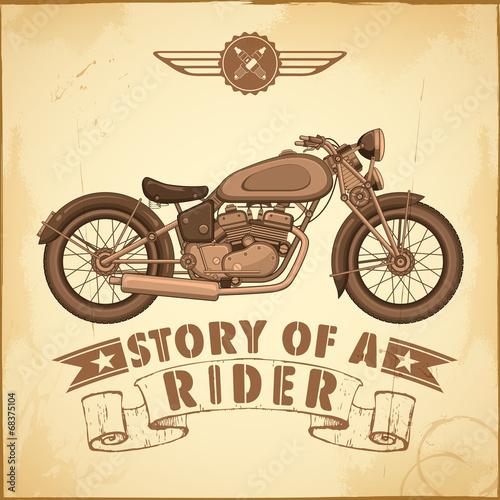 Foto op Canvas Scooter Vintage Motorcycle