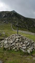 Slieve bernagh summit as seen from hares gap ireland