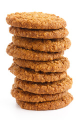 Crispy freshly baked treacle and oat biscuits.