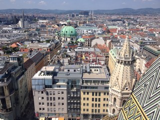 view on wien from stephandom