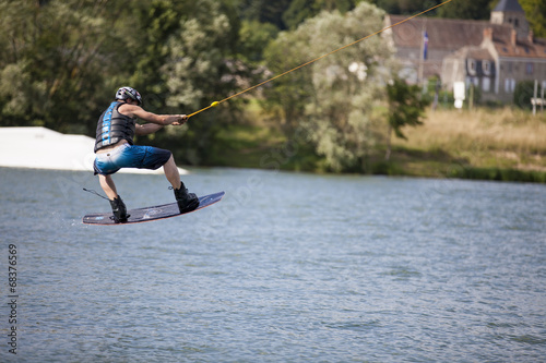 Fotobehang Water Motorsp. Kite-surf_5