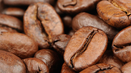 Coffee Beans Close-Up (16:9 Aspect Ratio)