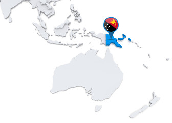 Papua new guinea on a map of Oceania © kerdazz