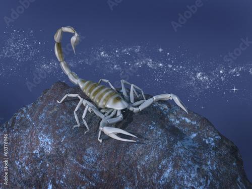 Representación simbólica del signo zodiacal de Escorpio - 68376946