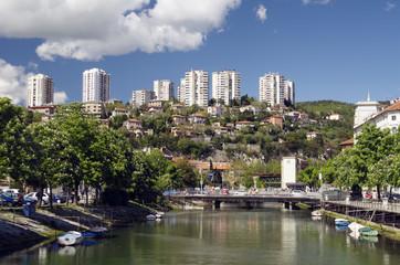 Rjecina River in Rijeka,Croatia