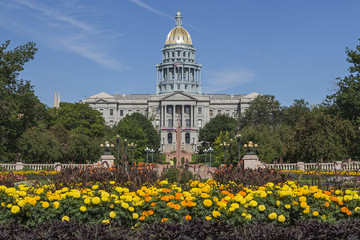 Golden Dome of Colorado State Capitol Building in Denver