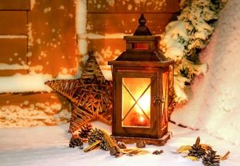 weihnachtlche Laterne