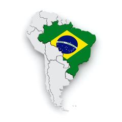 Map of worlds. Brazil.
