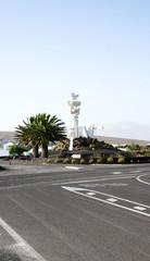 Monumento al campesino en Lanzarote, Islas Canarias