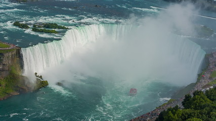 Niagara Falls view from Skylon Tower. Canada