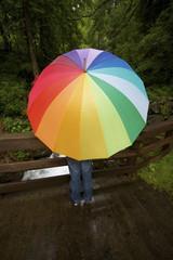 Ombrello multicolore
