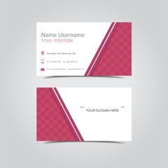 Flat business card template red