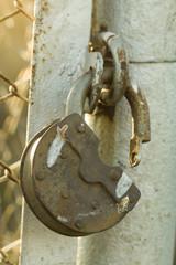 Old padlock - Stock Image macro