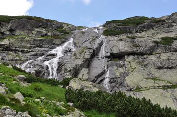 High Tatra mountains and waterfalls, Slovakia, Europe