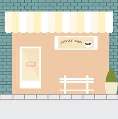 Coffee shop,vector flat design