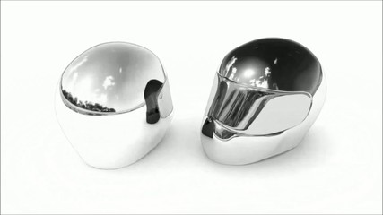 Helm silver & glossy
