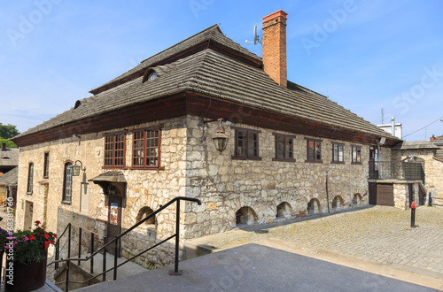 Historic synagogue in Kazimierz Dolny on the Vistula River