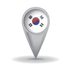 S.Korea, south Korean Flag (Vector Art)