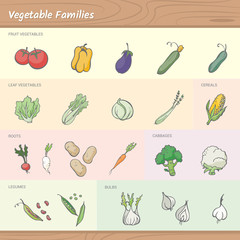 Vegetables families