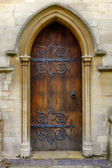 Church door of St Mary's Church, Melton Mowbray.