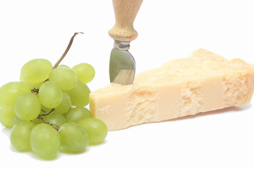 Bunch of grapes and Parmesan