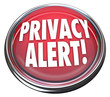 Privacy Alert 3d Red Button Light Warning Danger