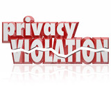 Privacy Violation 3d Words Cracked Letters Invasion Private Info poster
