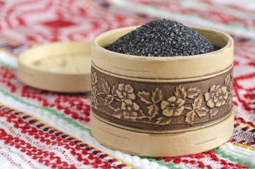 Chetvergova salt shaker from birch bark.