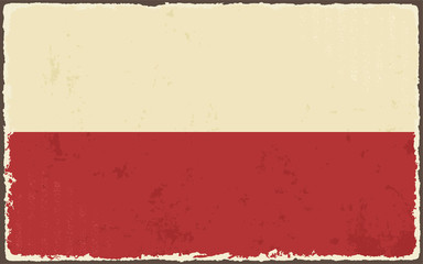 Polish grunge flag. Vector illustration