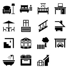House parts icons