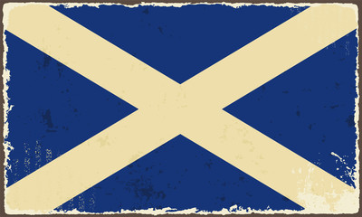 Scottish grunge flag. Vector illustration