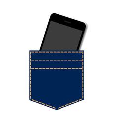 pocket smartphone background vector