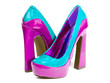 canvas print picture - glamorous women's high heel shoes