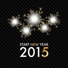 Silvester 2015 - Gold Sparkle Fireworks - Start new year