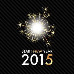 Silvester 2015 - Golden Sparkle - Start new year