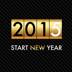 Silvester 2015 - Golden Counter - Start New Year