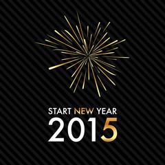 Silvester 2015 - Golden Fireworks - Start new year