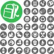 Summer camping icon set. Illustration eps10