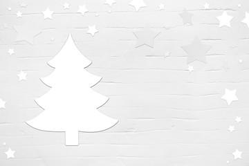 Hintergrund Weihnachten weiß mit Weihnachtsbaum als Grußkarte