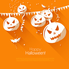 Halloween greeting card - flat design style