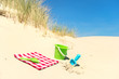 canvas print picture - Toys in the dunes