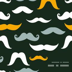 Fun silhouette mustaches frame corner pattern background