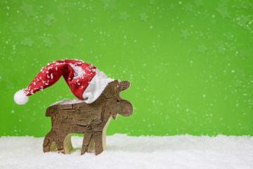 Weihnachtlicher Hintergrund in Grün, Rot und Weiß klassisch
